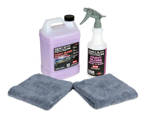 P&S Paint Gloss Kit | Double Black Detail Spray Combo