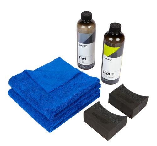 Clean Garage CarPro Car Show Detail Kit | Elixir Detailer Perl Dressing Applicator and Towels