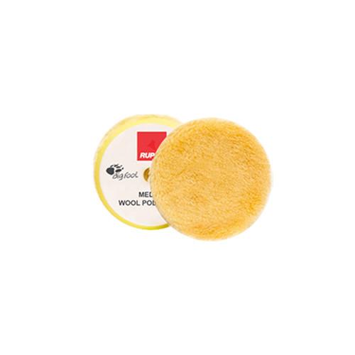 "2.5"" Rupes Medium Yellow Wool Pad | 4 Pack | For 2"" BP"