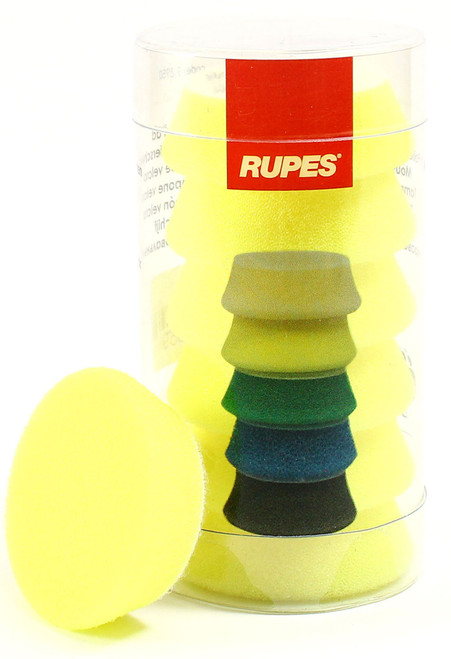 "1.5"" Rupes iBrid Nano Pad Yellow Foam | 6 Pack | For 1"" BP"