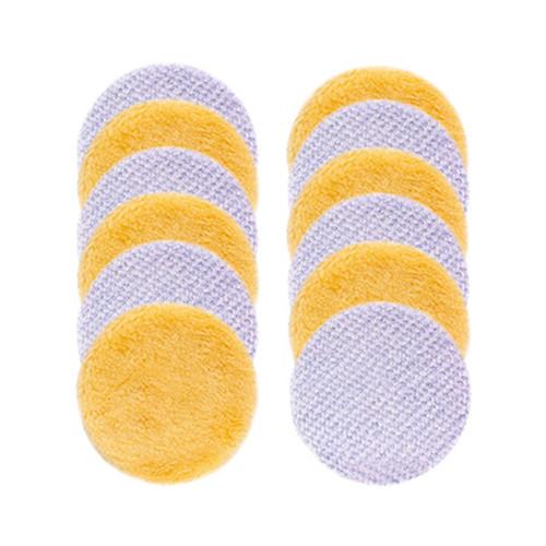 """Rupes iBrid Nano Wool Pad Combo 2.5""""    12 Pads Yellow Blue"""