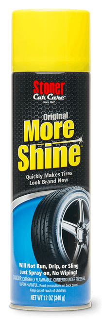 The Clean Garage Stoner More Shine For Tires 12oz Aerosol | Spray on Tire Shine