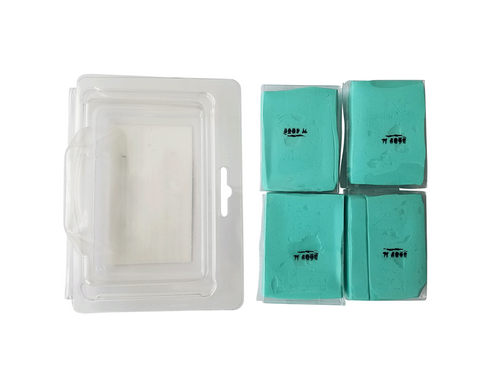 The Clean Garage Professional Detailing Clay Bar 4 Pack | Green Fine Grade Light