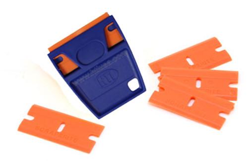EZ-Grip Plastic Razor Blade Holder and 5 Blades
