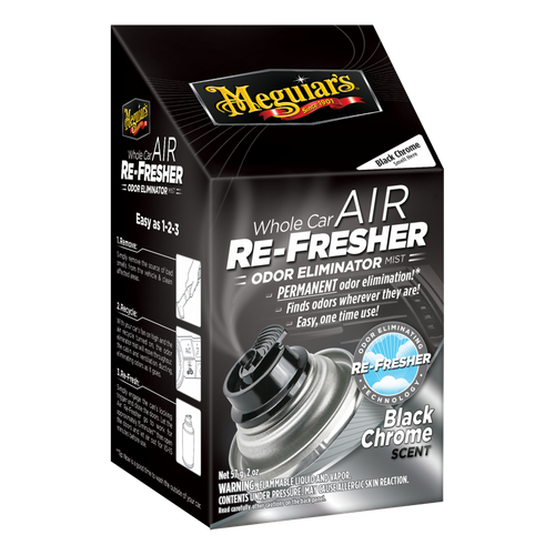 The Clean Garage Meguiars Whole Car Air Refresher Odor Eliminator   Black Chrome Frost