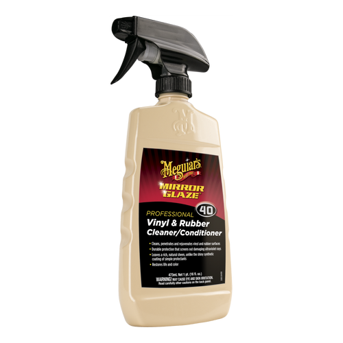 The Clean Garage Meguiars M40 Vinyl and Rubber Cleaner Conditioner 16oz   M4016