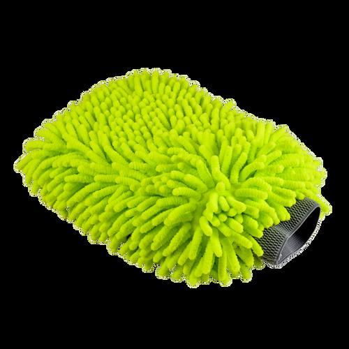 Chennille Microfiber Scratch Free Wash Mitt   Bright Green