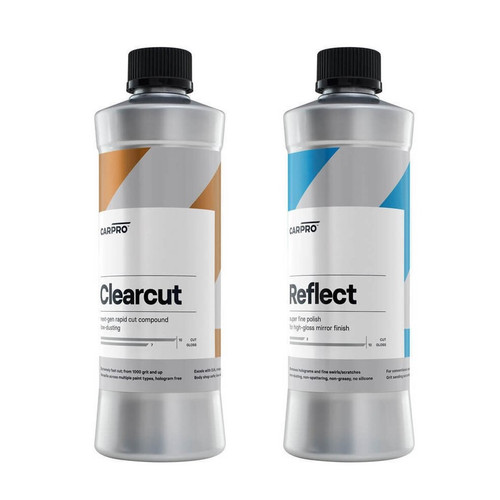 The Clean Garage CarPro ClearCut Compound and Reflect Polish Combo   500ml Kit