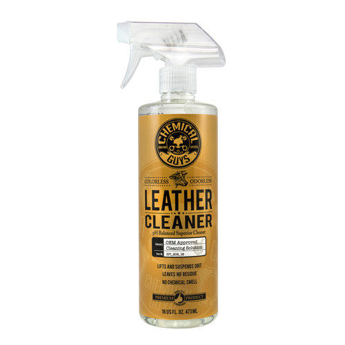 Chemical Guys Leather Cleaner 16oz | OEM Approved Colorless