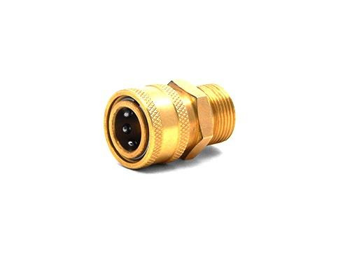 "MTM M22 Male 14MM X 3/8"" QC Coupler Hose | Brass"