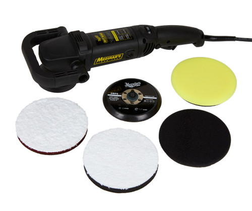 "Meguiars MT300 DA Polisher Kit  | Dual Action 5"" BP and Pads"
