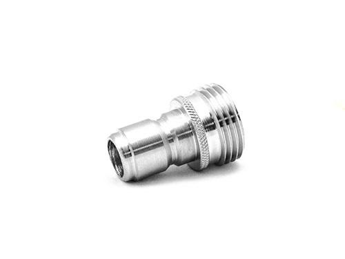 "MTM 3/4"" Male Garden Hose QC Plug | Stainless Steel"