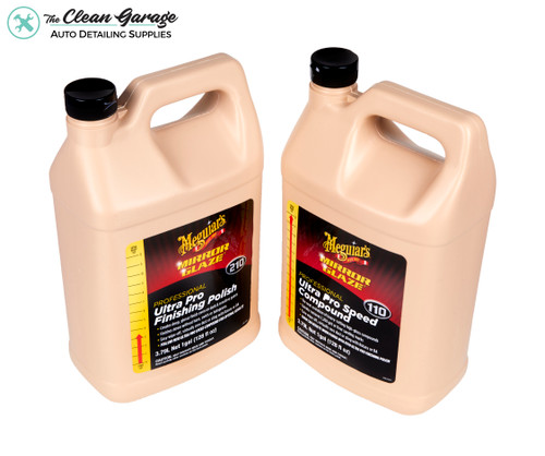 The Clean Garage Meguiars M110 & M210 Gallon Combo | Pro Speed Compound & Finishing Polish