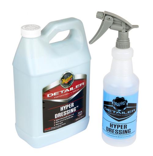 Meguiars D170 Hyper Dressing Kit | 1 Gallon & 32oz Spray Bottle