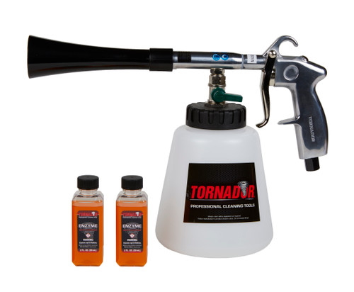 Clean Garage Tornador Black Tool | Air Powered Interior Cleaning | 2 Free Product
