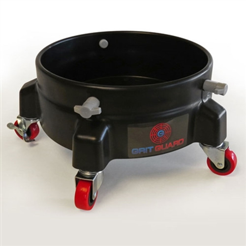 The Clean Garage Grit Guard Bucket Dolly | Black With 5 Casters