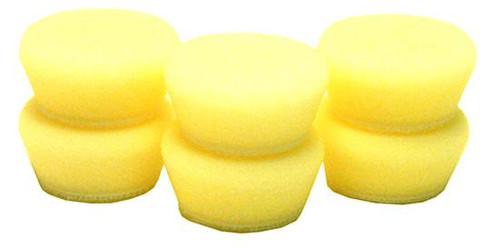 "1"" Uro-Tec Foam Pads 6 Pack | Buff and Shine Yellow Foam Pad"