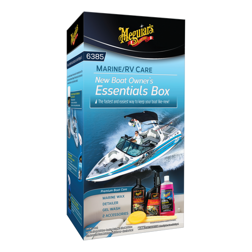 The Clean Garage Meguiars Marine RV New Boat Owners Essentials Detailing Box Kit