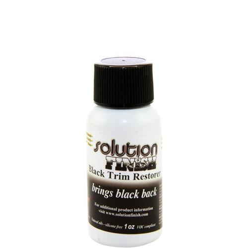 Solution Finish Black Plastic and Vinyl Trim Restorer  1oz.