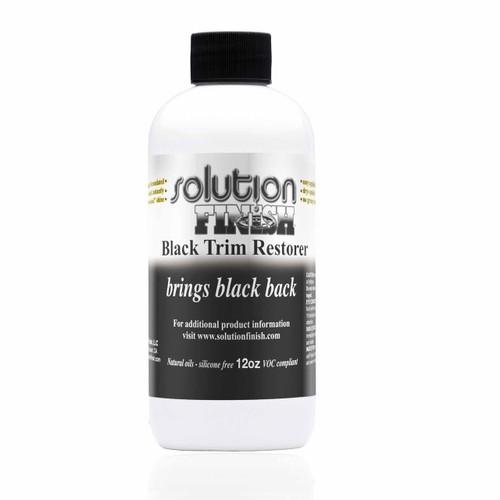 Solution Finish Black Plastic and Vinyl Trim Restorer  12oz.