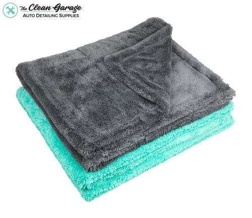 "The Clean Garage 2 Pack Dual Sided Twist Loop XL Drying Towel 1400gsm | 35"" x 30"""