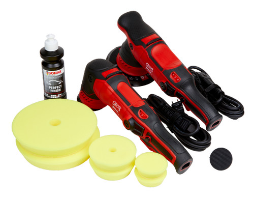 Clean Garage Griot's Garage G8 and G9 Polisher Combo | 2 DA Buffer Kit With Pads Polish