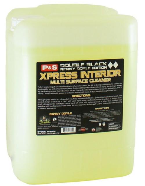 The Clean Garage P&S Xpress Interior Cleaner 5 Gallon | Double Black Interior Detailer