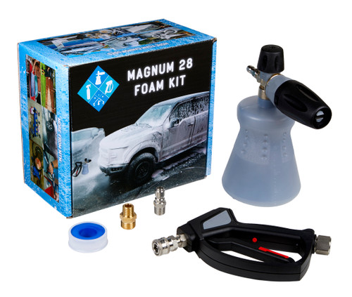 Clean Garage MTM Magnum 28 Kit   PF22.2 Foam Cannon SGS28 Swivel Gun and Fittings