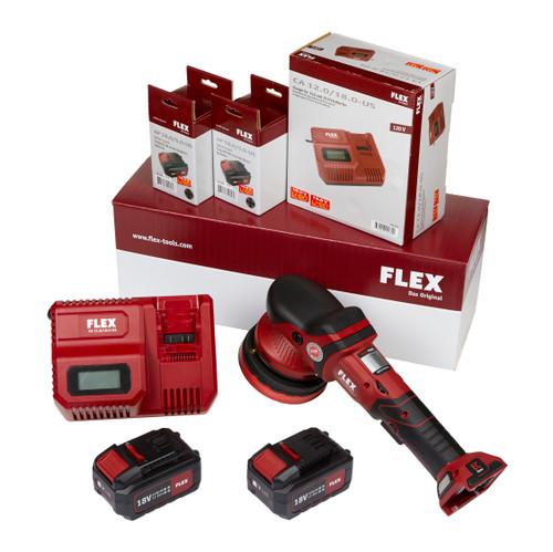 Clean Garage Flex XFE 15 150 18.0-EC/5.0 | Cordless Random Orbital Polisher Kit