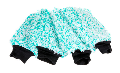 Ultra Plush Korean Microfiber Wash Mitt Mint Green | 4 Pack
