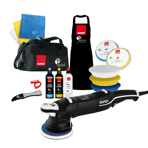 The Clean Garage Rupes LHR15 Mark III Polisher Complete Kit | Bigfoot Bag Combo