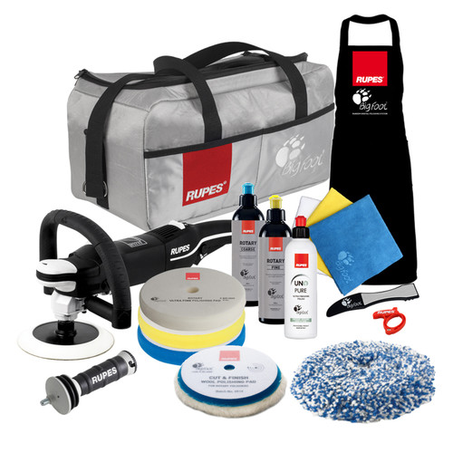 The Clean Garage Rupes LH19E Rotary Polisher Complete Kit | Bigfoot Bag Combo