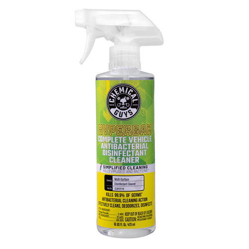 The Clean Garage Chemical Guys HyperBan 16oz | Complete Vehicle Antibacterial Disinfectant Cleaner