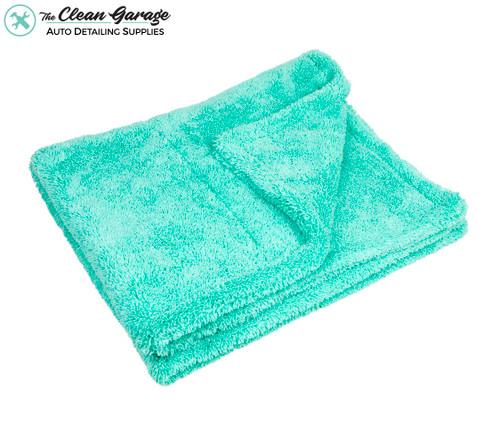 "Dual Sided Twist Loop XL Drying Towel 1400gsm Mint Green   35"" x 30"""