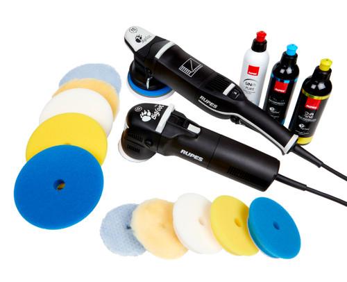 Clean Garage Rupes Paint Correction Starter Kit | LHR15 Mark III & LHR75E Polishers
