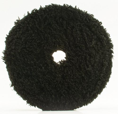 "6"" Uro-Fiber Finisher Pad | Buff and Shine All Black Microfiber"