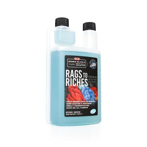 The Clean Garage P&S Rags To Riches Microfiber Detergent   32oz Towel Wash