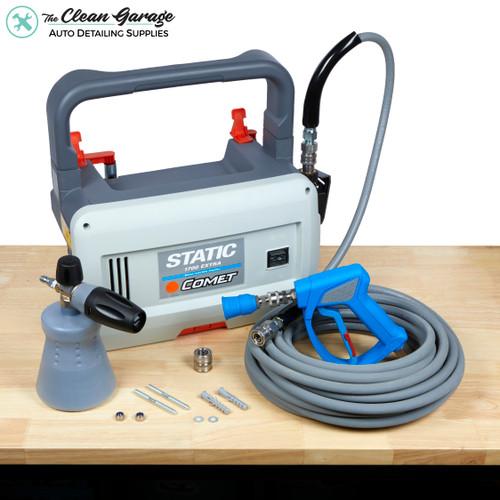 The Clean Garage Comet Static 1700 Pressure Washer Detailing Package | Kobrajet Hose
