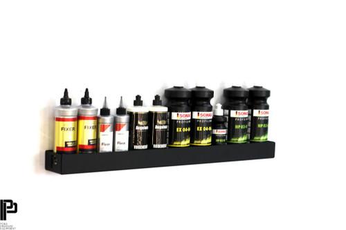 "Clean Garage Poka Premium Wall Mount Detail Polish Bottle Holder | Blank | 31.5"""