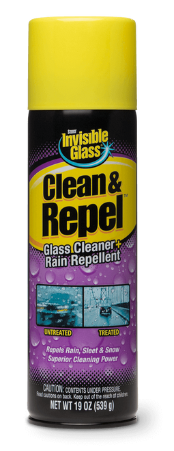 The Clean Garage Stoner Invisible Glass Clean and Repel 19oz Aerosol | Cleaner and Rain Repellent