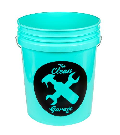 Clean Garage 5 Gallon Bucket | Mint Green | Optional Insert and Lid