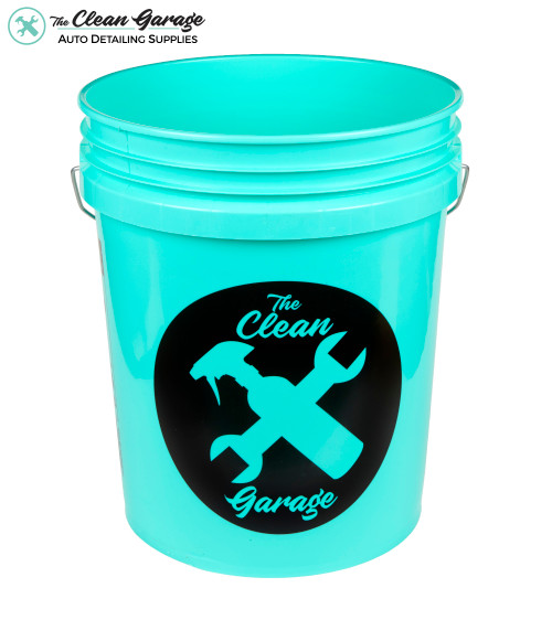 The Clean Garage 5 Gallon Bucket | Mint Green | Optional Insert and Lid