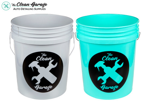The Clean Garage 5 Gallon Bucket | Set of 2 | Optional Inserts and Lids