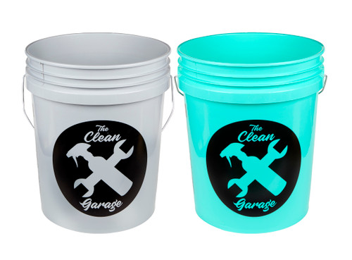 Clean Garage 5 Gallon Bucket | Set of 2 | Optional Inserts and Lids