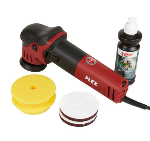 "Clean Garage Flex XFE 7-12 80 3"" Mini Random Orbital Polisher | Kit 1 Pads and Polish"