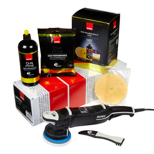 Clean Garage Rupes LHR15 Mark III Polisher Kit | Bigfoot Combo 8 | DA Fine Polish & Pads