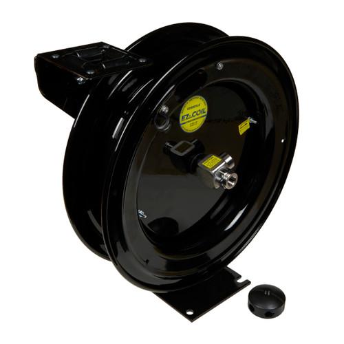 "Clean Garage Cox Custom Air Hose Reel Black | EZ Coil | For 3/8"" 50 Foot Hose"