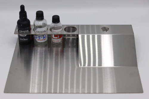 The Clean Garage Beadz Coating Caddy | Stainless Ceramic Coating Bottle and Accessory Holder