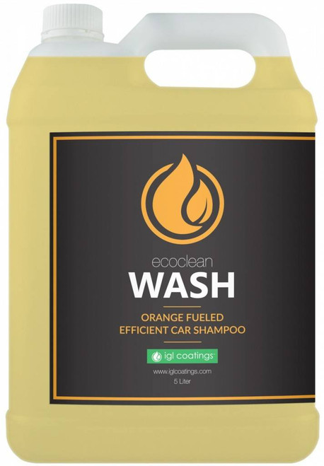 The Clean Garage IGL Ecoclean Wash 5 Liter   Orange Fueled Wash Shampoo Soap