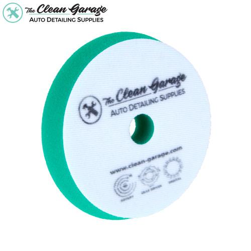 "The Clean Garage 6"" Clean Garage Green Foam Medium Cutting Pad | For 5"" Backing Plate DA/Rotary"
